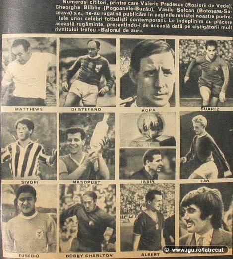 Fotbalistii de top din 1970
