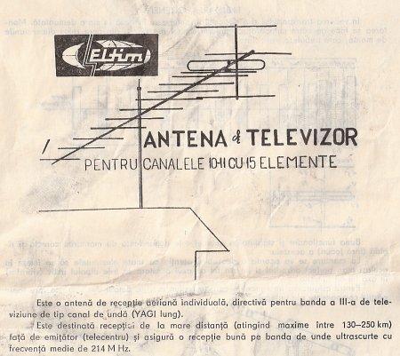 Antena pentru banda III